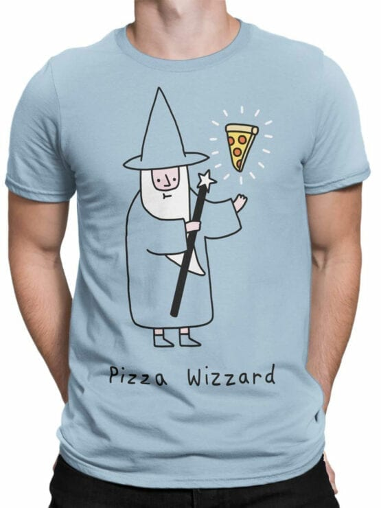 0852 Pizza Shirt Wizzard Front Man