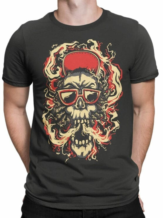 0853 Cool T Shirts Smoke Front Man