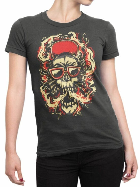 0853 Cool T Shirts Smoke Front Woman