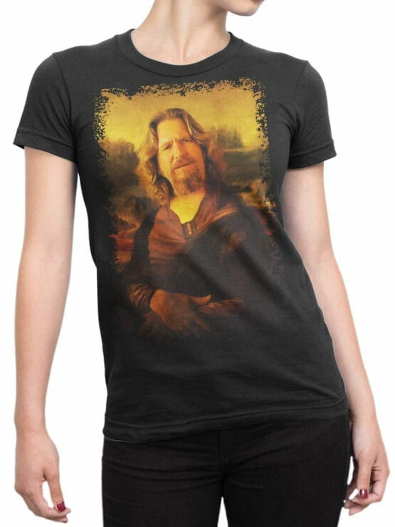 0855 Big Lebowski T Shirt Mona Dude Front Woman