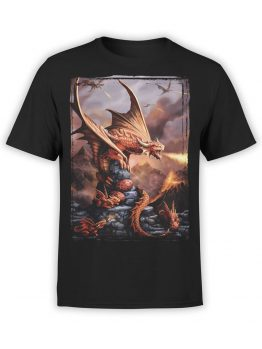 0856 Dragon Shirt Fiery Front