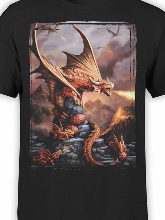 0856 Dragon Shirt Fiery Front Color