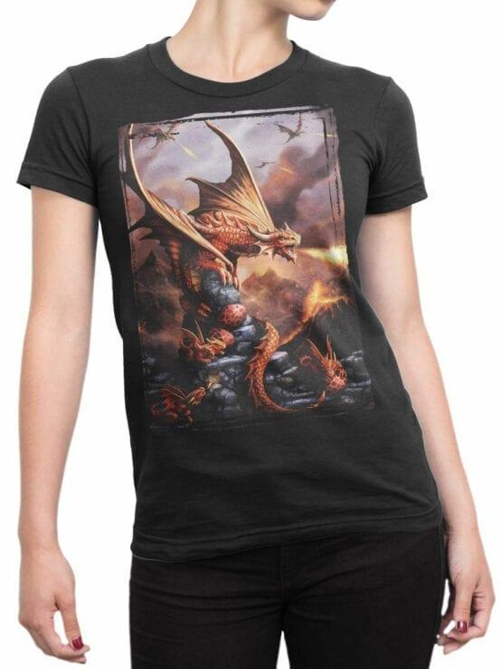 0856 Dragon Shirt Fiery Front Woman