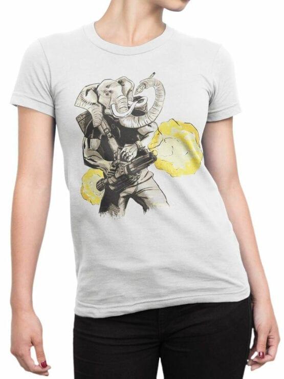 0858 Elephant Shirt Warrior Front Woman