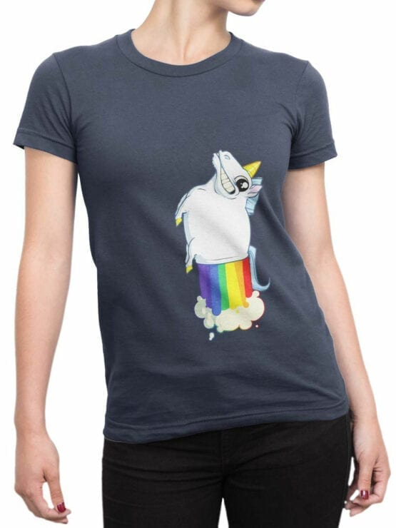 0859 Unicorn Shirt MegaFart Front Woman