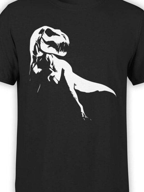 0862 Dinosaur Shirt Raptor Ghost Front Color