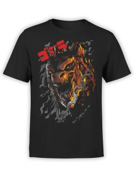 0865 Monster Shirt Godzilla Front