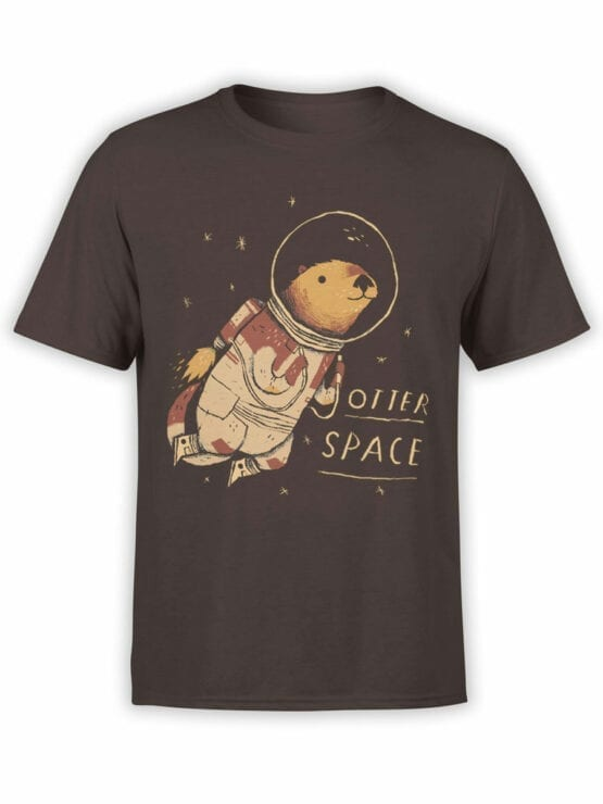 0868 NASA Shirt Otter Space Front