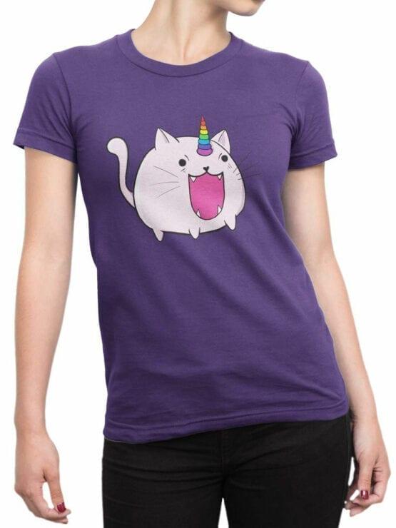 0872 Unicorn Shirt Catacorn Front Woman
