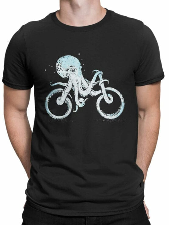 0873 Cool T Shirts Octocycle Front Man