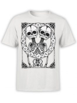 0874 Skull Shirt Horoscope Front
