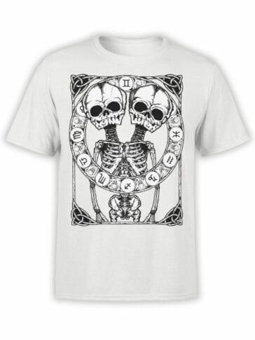 0874 Skull Shirt Horoscope Front