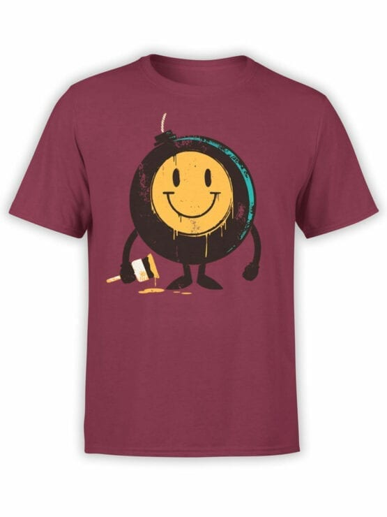 0875 Cool T Shirts Positive Bomb Front
