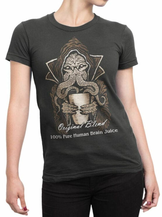 0879 Monster Shirt Brain Juice Front Woman
