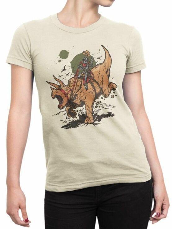 0880 Dinosaur Shirt RoboRider Front Woman