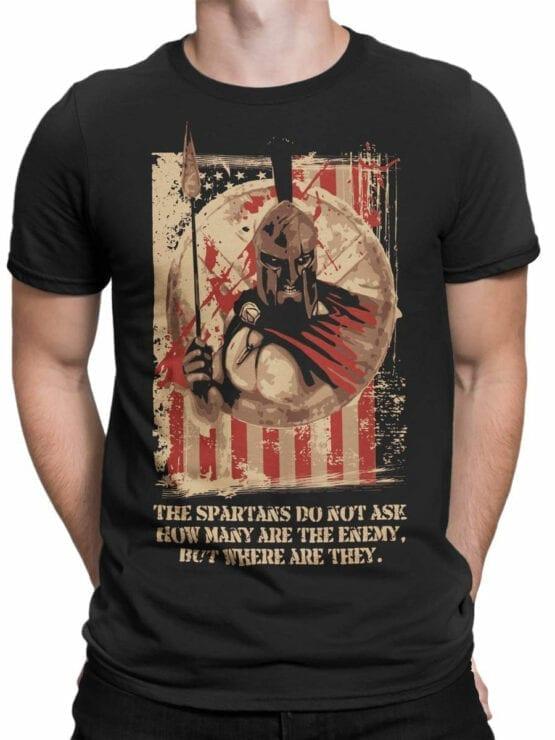0884 Patriotic Shirts USA Spartans Front Man
