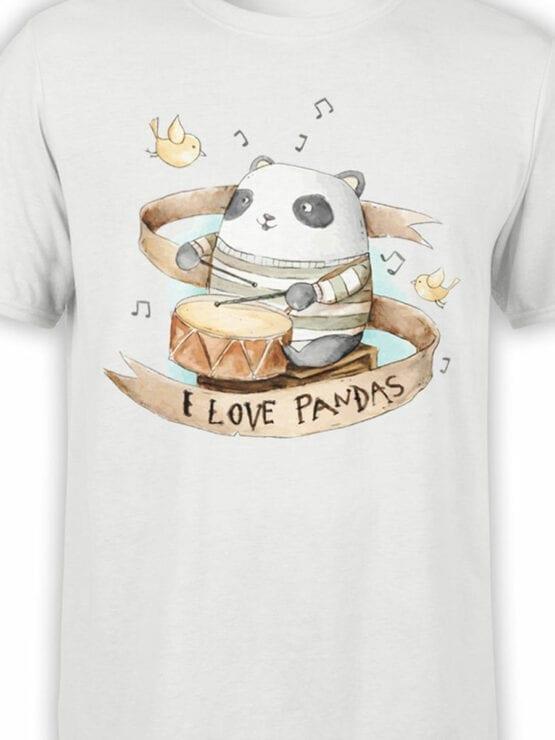 0888 Panda Shirt Love Pandas Front Color