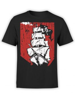 0889 Pirate Shirt Ship Front