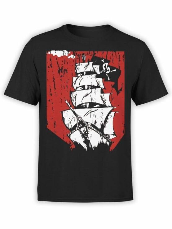 0889 Pirate Shirt Ship Front