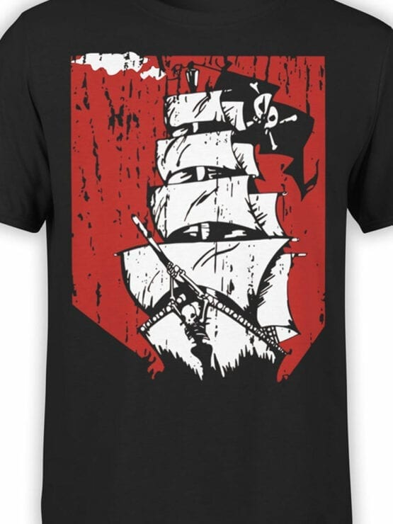 0889 Pirate Shirt Ship Front Color