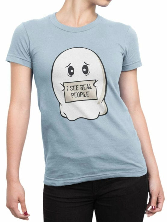 0890 Ghost Shirt Real People Front Woman