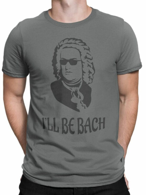 0891 Funny T Shirts Bach Front Man