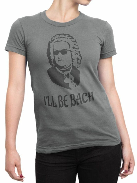 0891 Funny T Shirts Bach Front Woman