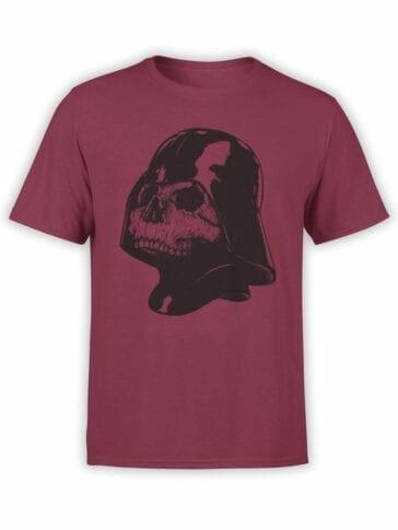 0892 Star Wars T Shirt Skull Vader Front
