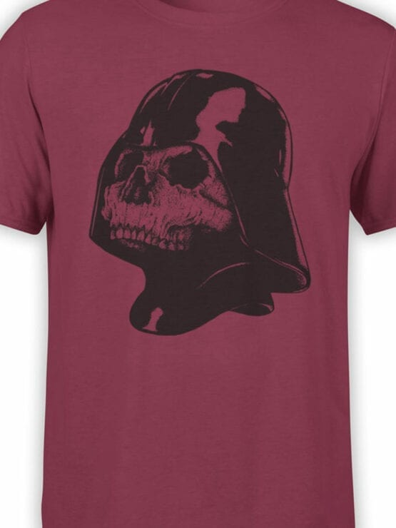 0892 Star Wars T Shirt Skull Vader Front Color