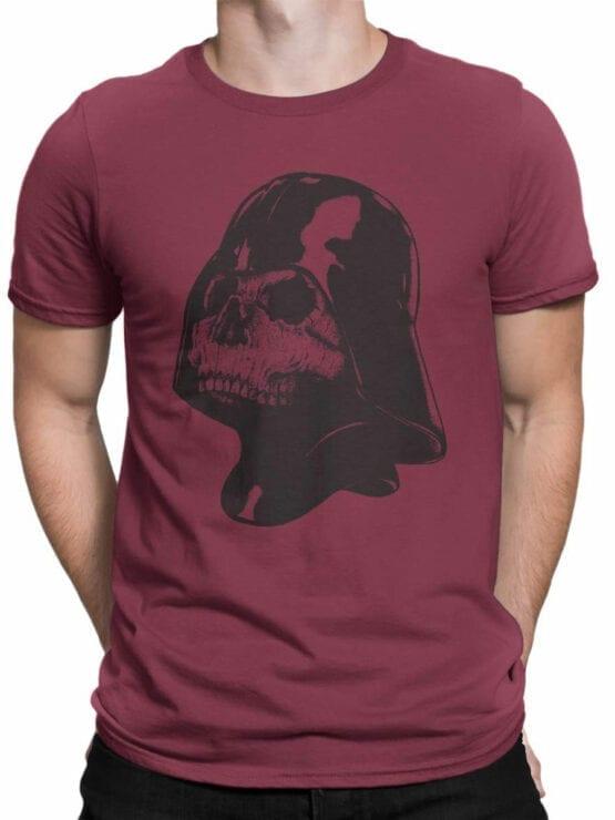 0892 Star Wars T Shirt Skull Vader Front Man