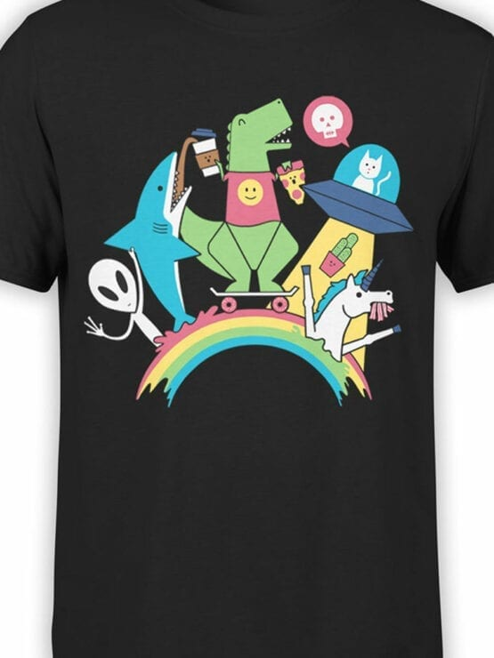 0893 Cool T Shirt Friends Front Color