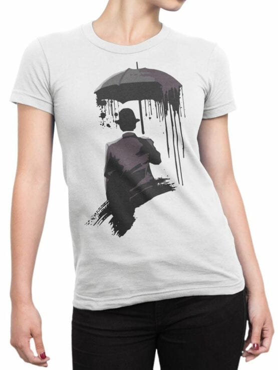 0895 Cool T Shirts Rain Front Woman