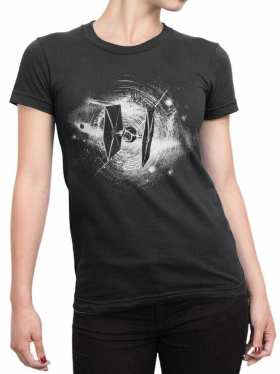 0897 Star Wars T Shirt Fighter Front Woman