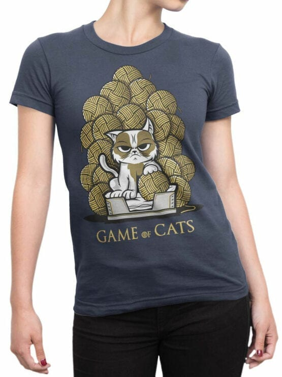 0902 Game of Thrones Shirt Game of Cats Front Woman