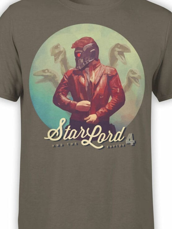 0904 Guardians of the Galaxy T Shirts Raptor Front Color