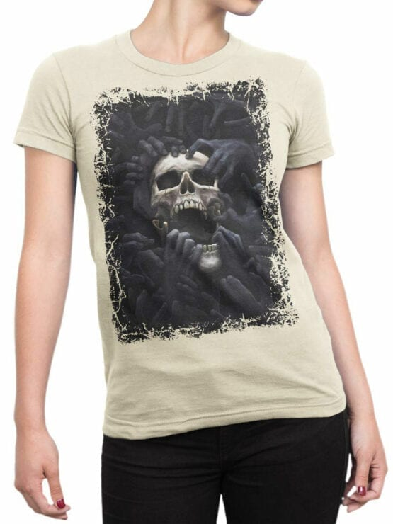 0907 Horror Shirt Hell Front Woman