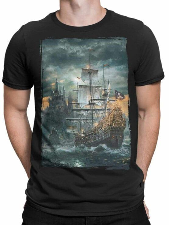 0909 Pirate Shirt Island Front Man