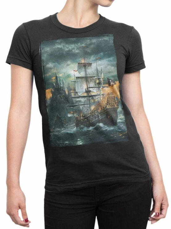 0909 Pirate Shirt Island Front Woman