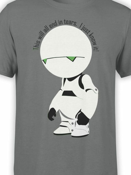 0913 The Hitchhikers Guide to the Galaxy Shirt Marvin I know it Front Color