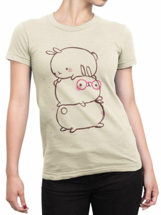 0914 Cute T Shirt Rabbits Front Woman