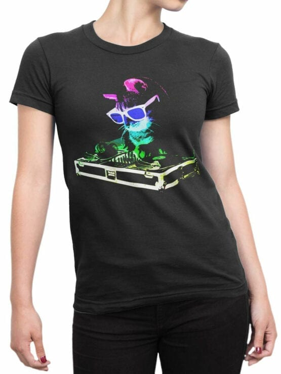 0919 Cat Shirt DJ Catto Front Woman