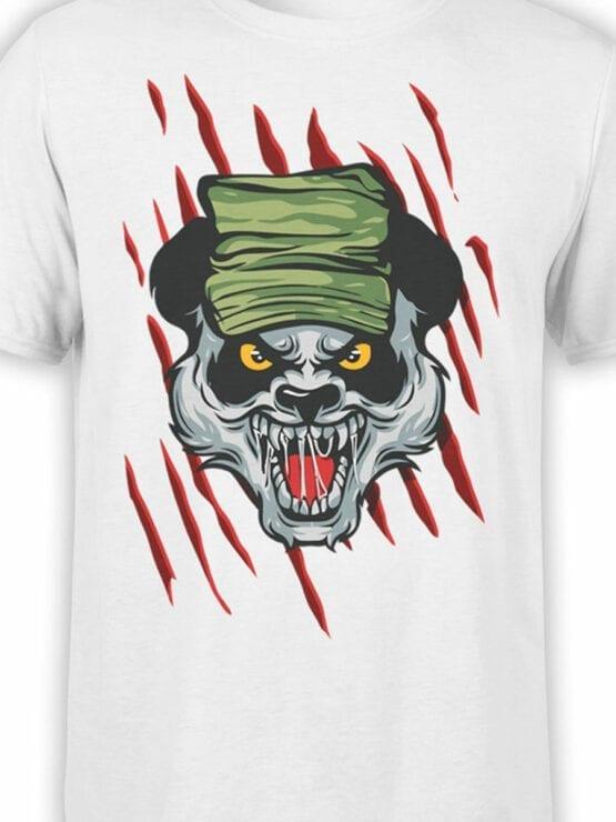 0920 Panda Shirt Army Front Color
