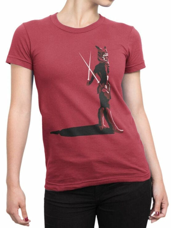 0924 Star Wars Shirt Ahsoka Tano Front Woman