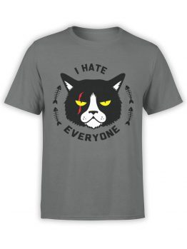 0925 Cat Shirts I hate everyone Front