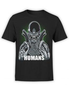0928 Aliens T Shirt Humans Front