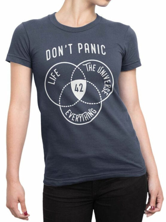 0930 The Hitchhikers Guide to the Galaxy Dont Panic Front Woman