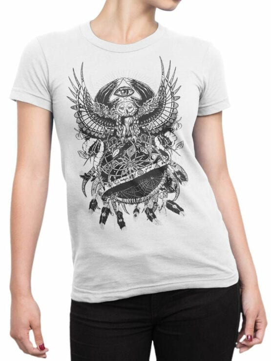 0932 Cool Shirts Night Front Woman
