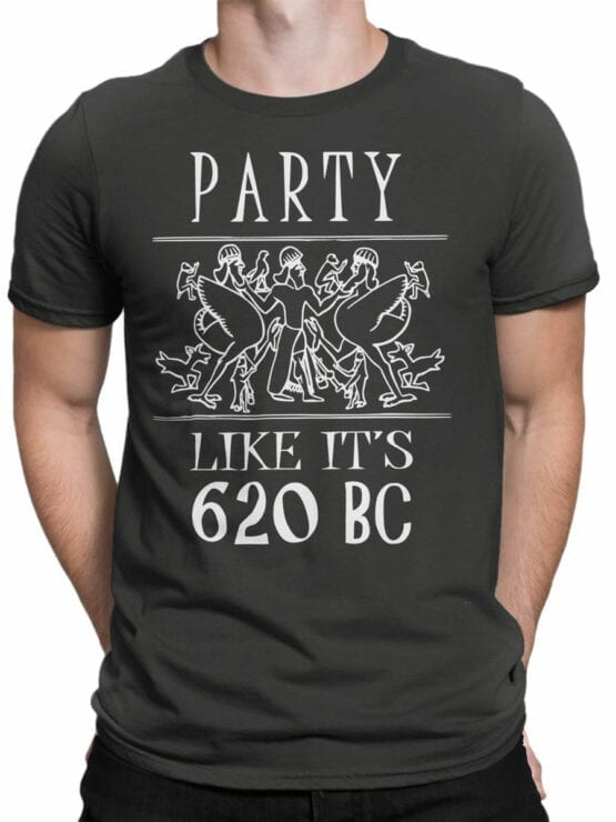 0933 Funny T shirt Party 620 BC Front Man