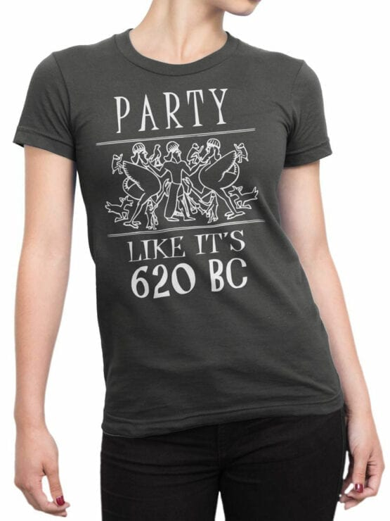 0933 Funny T shirt Party 620 BC Front Woman