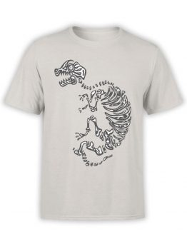 0935 Cool Shirt Dinosaur Skeleton Front